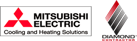mitsubishi Electric heating and air conditioning products from AGS Services 603-428-7990